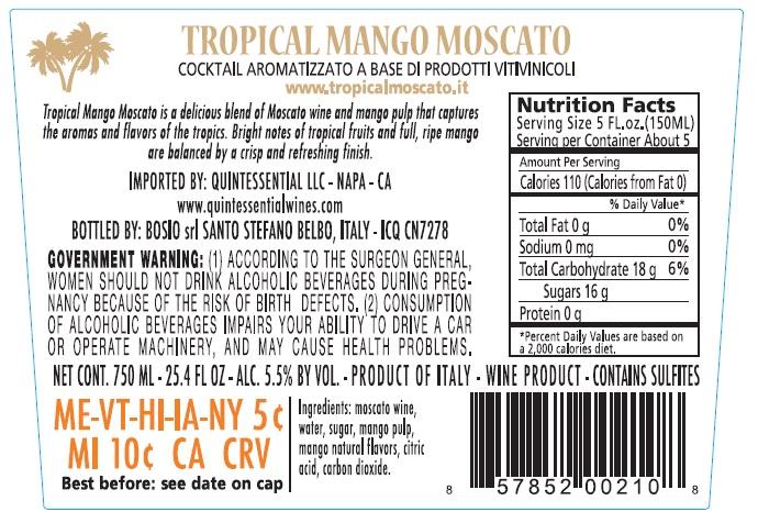 Quintessential Wines - Tropical Mango Moscato